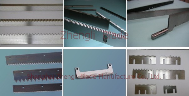 Provide, Tooth cutting knife, serrated cutting blade, serrated shear blade