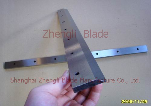 Raw material, Web slitting knife blade, web, web cross-cutting blade